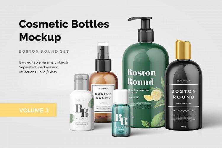 cosmetic bottles mockup vol1