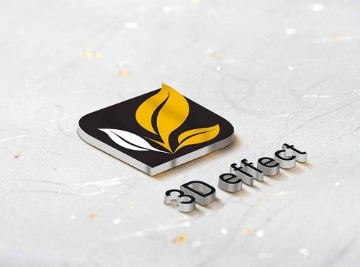 create 3d mockup of your logo with 5 different variations for 5 velocity fivesquid