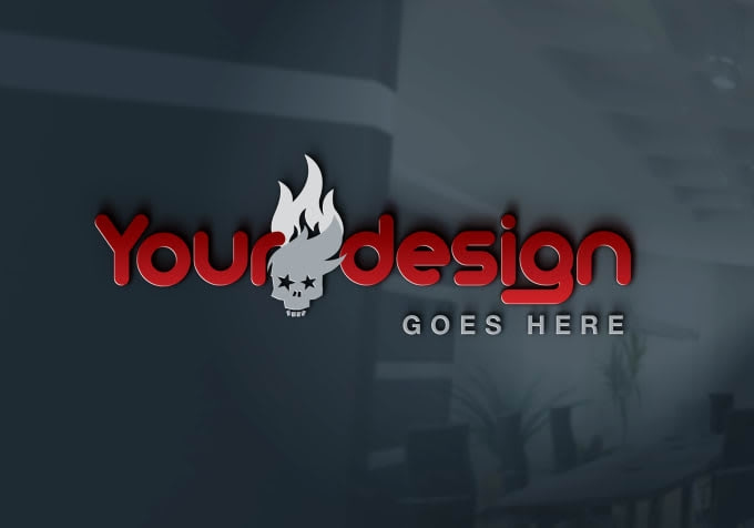 create professional 3d mockup logo design