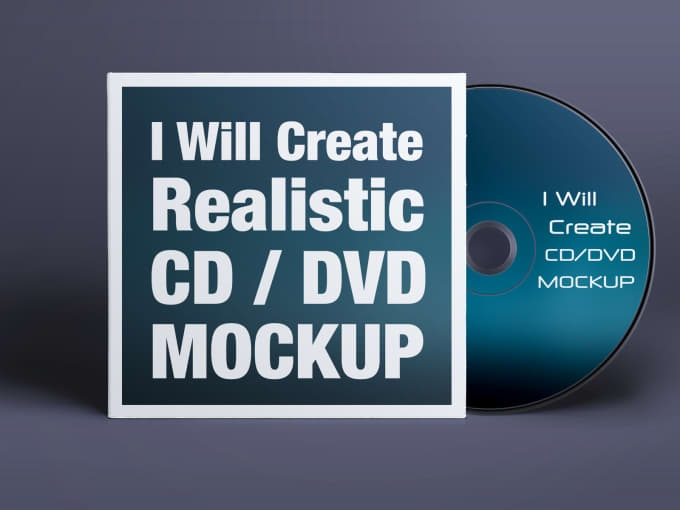 create realistic cd or dvd cover mockup