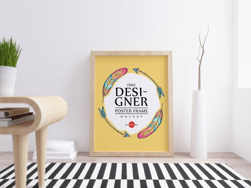 designer free poster frame mockup mockuptree