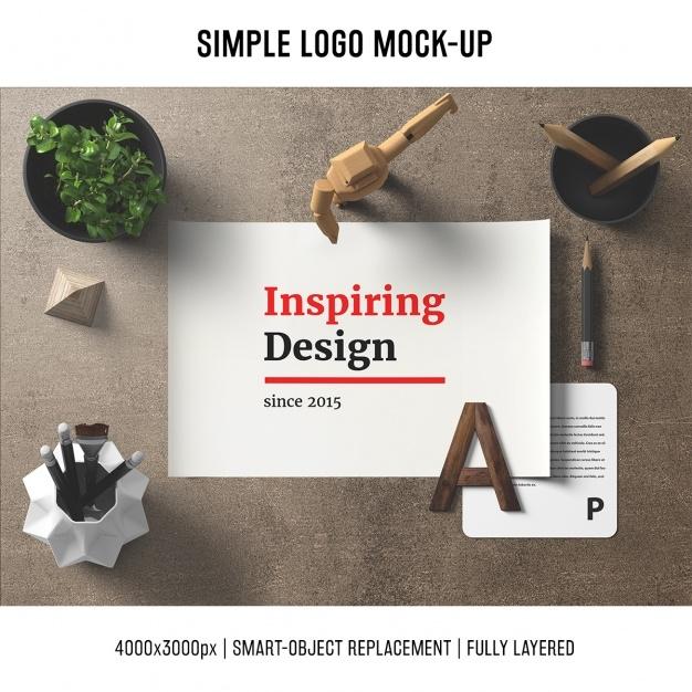 desk mock up template psd file free download
