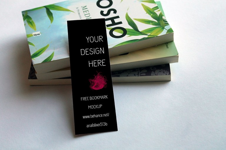 download this bookmark mockup free psd designhooks