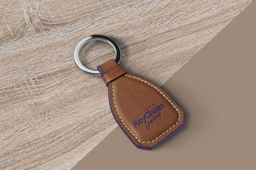 download this free leather keychain mockup in psd designhooks