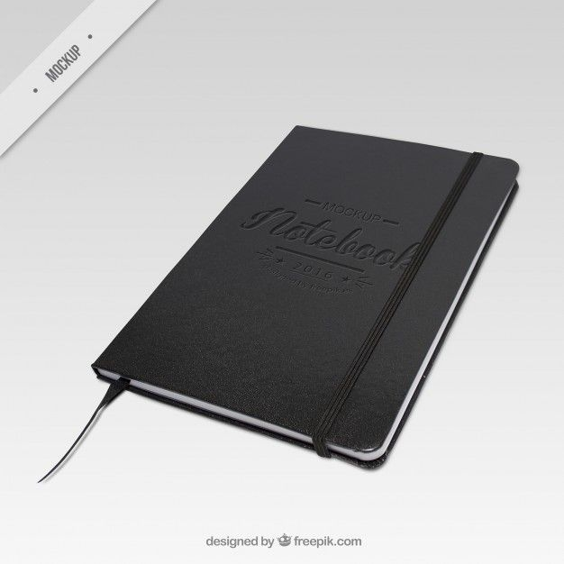 elegant dark notebook mockup free psd mock up mockup