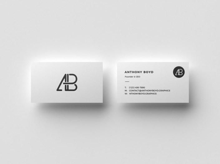 floating business cards mockup mockupworld