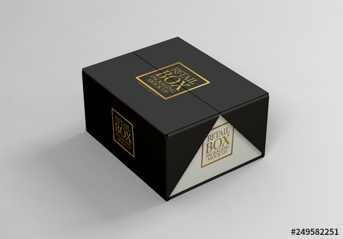 folding cardboard box mockup buy this stock template and