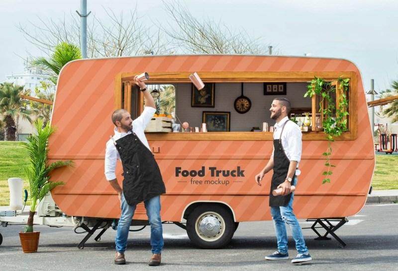 food truck mockup mockupworld