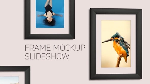 frame mockup slideshow