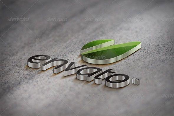 free 3d logo mockups graphic template designs 3d logo logo psd