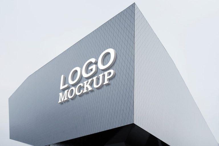 free 3d logo psd mockup v3 mockuphero