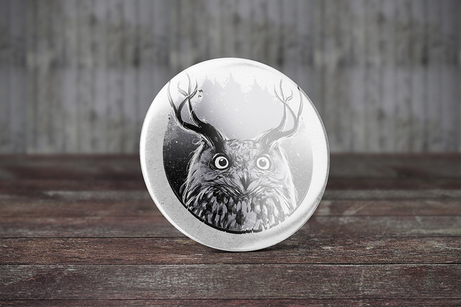 free badge button mockup free design resources