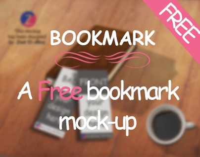free bookmark mockup search on behance
