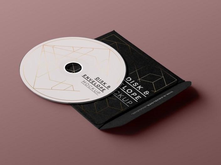 free cd disk sleeve mockup mockuptree