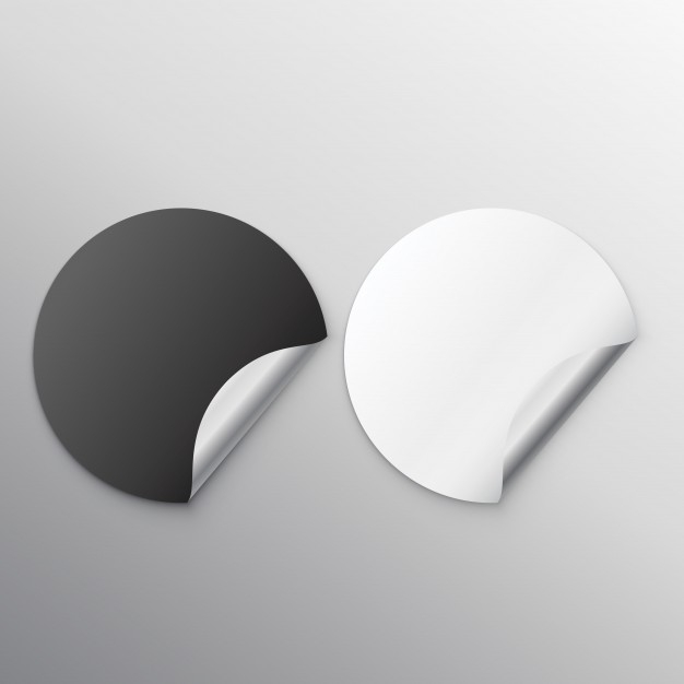 free customizable round stickers mockup designhooks