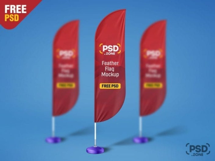 free feather flag mockup psd template free mockups