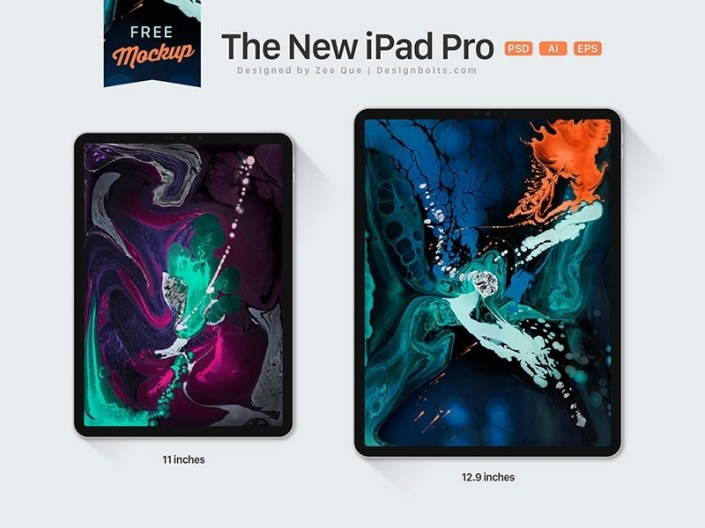 free ipad pro mockups for 2019 psd sketch ux planet