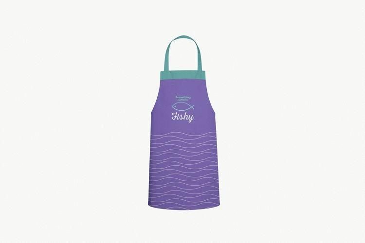 free kitchen apron mockup download