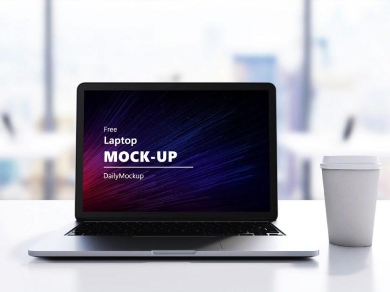 free laptop mockup psd file daily mockup