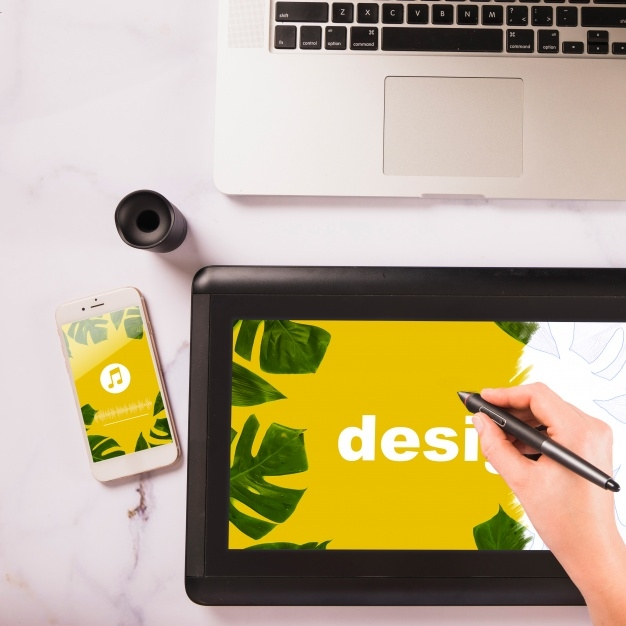 free mockup graphic tablet mockup and various devices psd