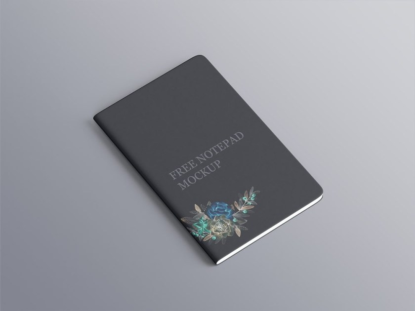 free notepad mockup with rounded corners free mockup