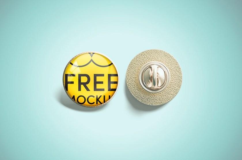 free pin mockup mockuptree