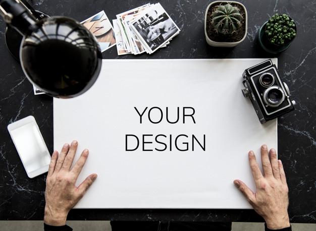 free professional photographer desk mockup in psd designhooks