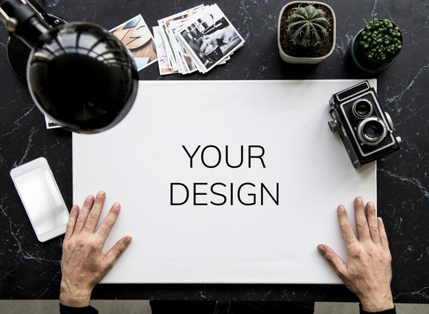 free professional photographer desk mockup in psd designhooks