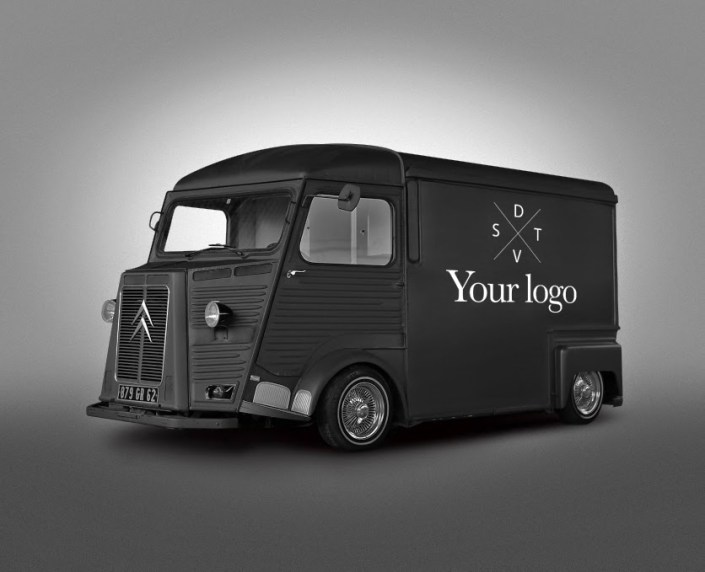 free psd van food truck mockup on behance