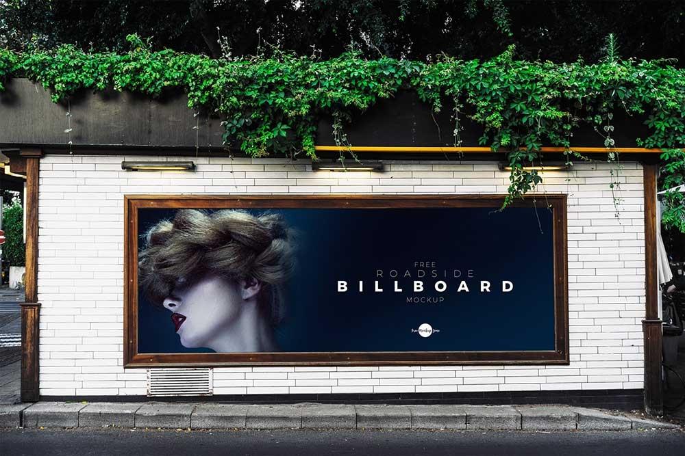 free roadside advertisement billboard mockup mockuptree