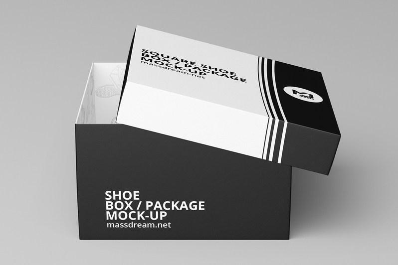 free shoe box mockup psd template mockup free downloads