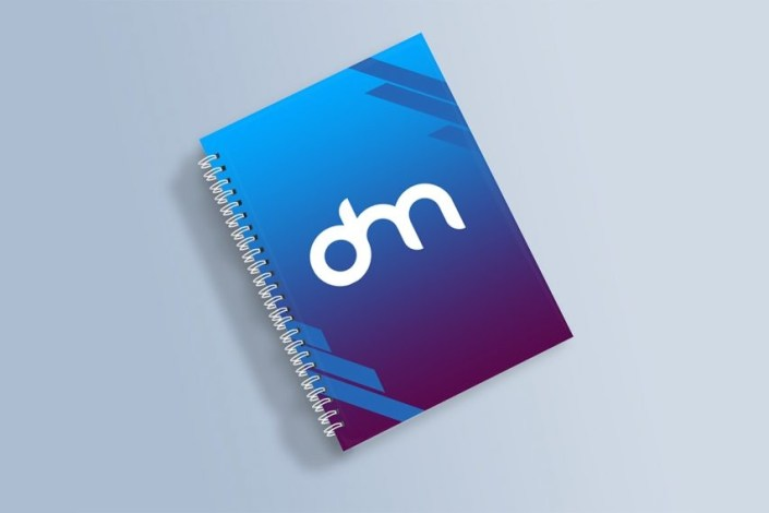 free spiral notebook mockup download mockup