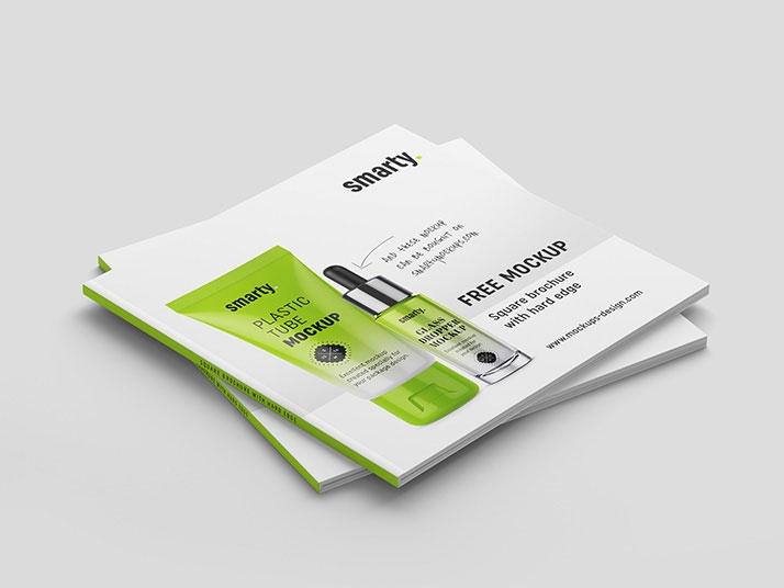 free square brochure mock ups mockuptree