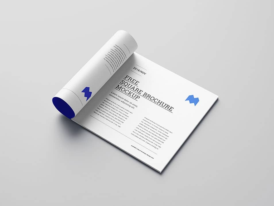 free square brochure mockup css author