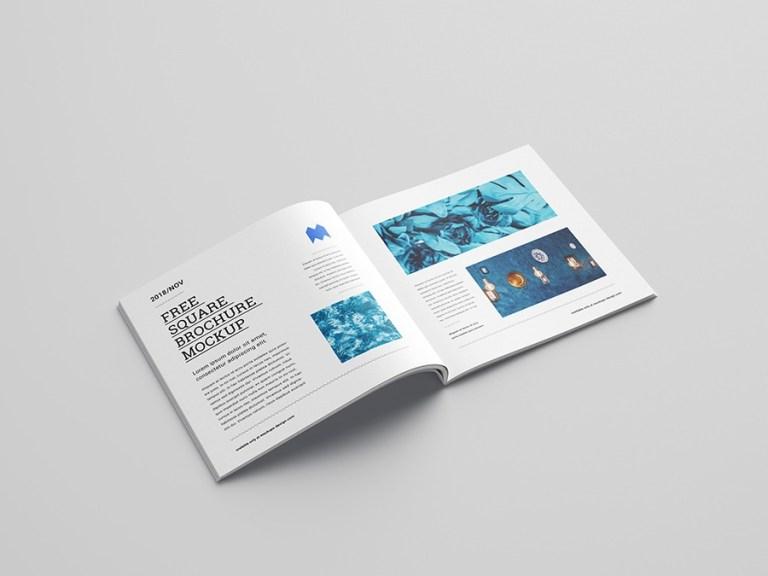 free square brochure mockup mockups design free premium mockups