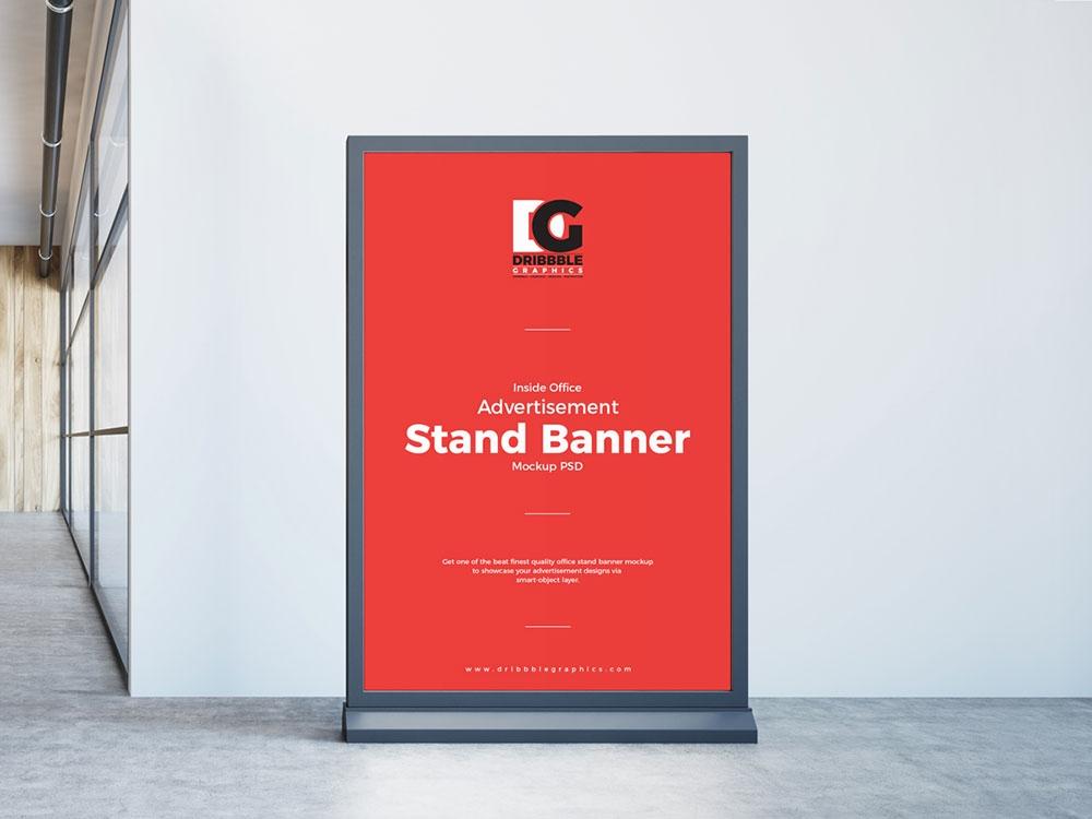 free stand banner mockup mockuptree