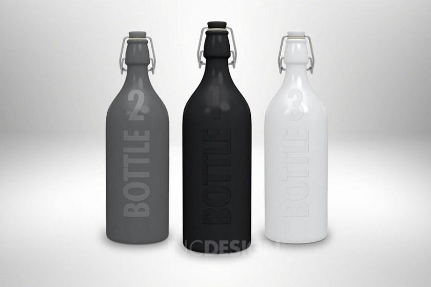 free swing cap bottle mockup template on behance