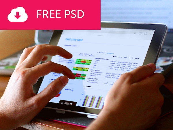 free tablet mockup psd psdblast