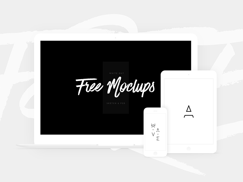 free white devices mockups sketch psd nick