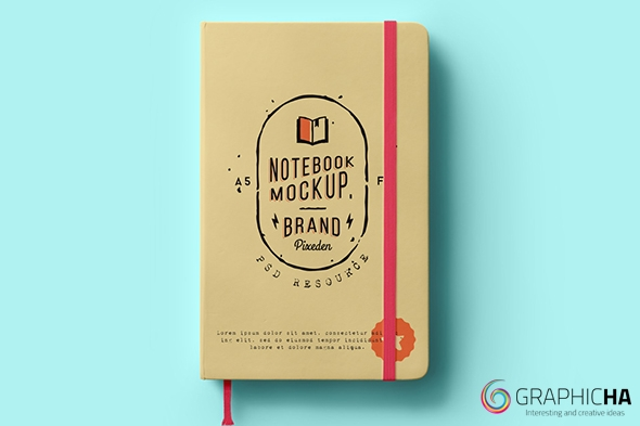 graphicha classic psd notebook mockup