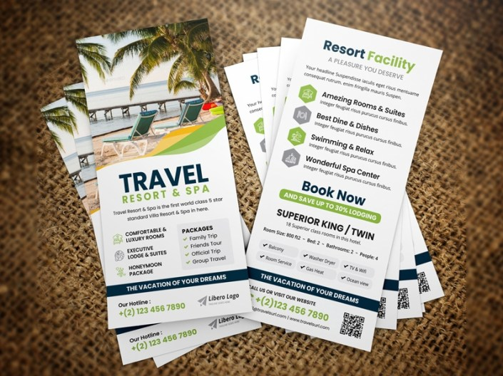 holiday travel rack card dl flyer jabin hossain on dribbble