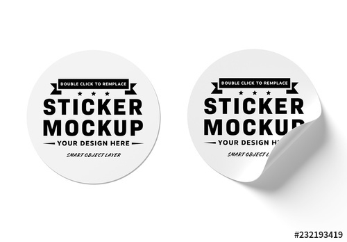 isolated sticker mockups buy this stock template and explore