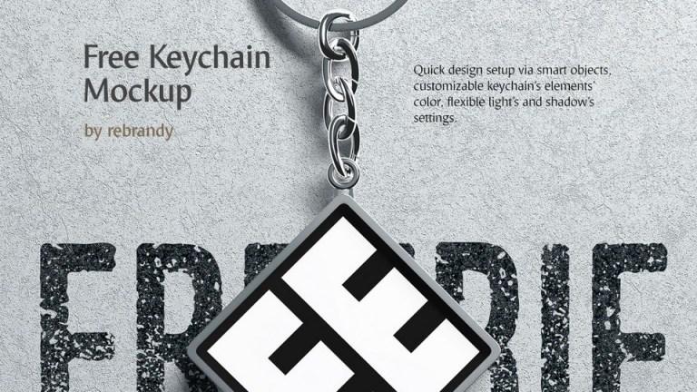 keychain free mockup pinspiry