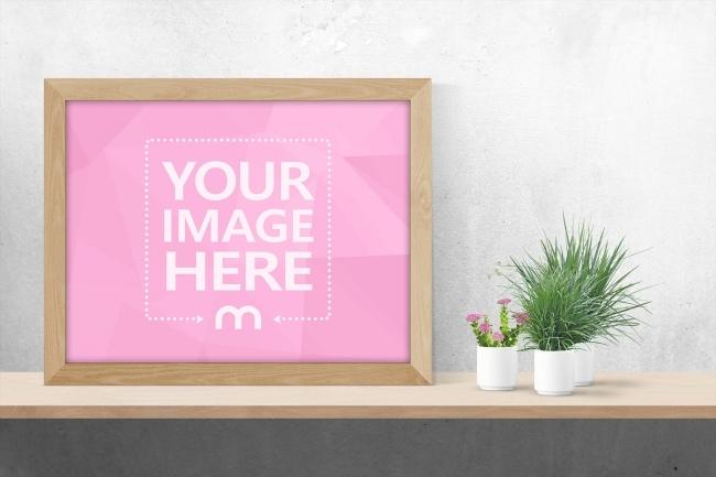 landscape photo frame mockup generator mediamodifier