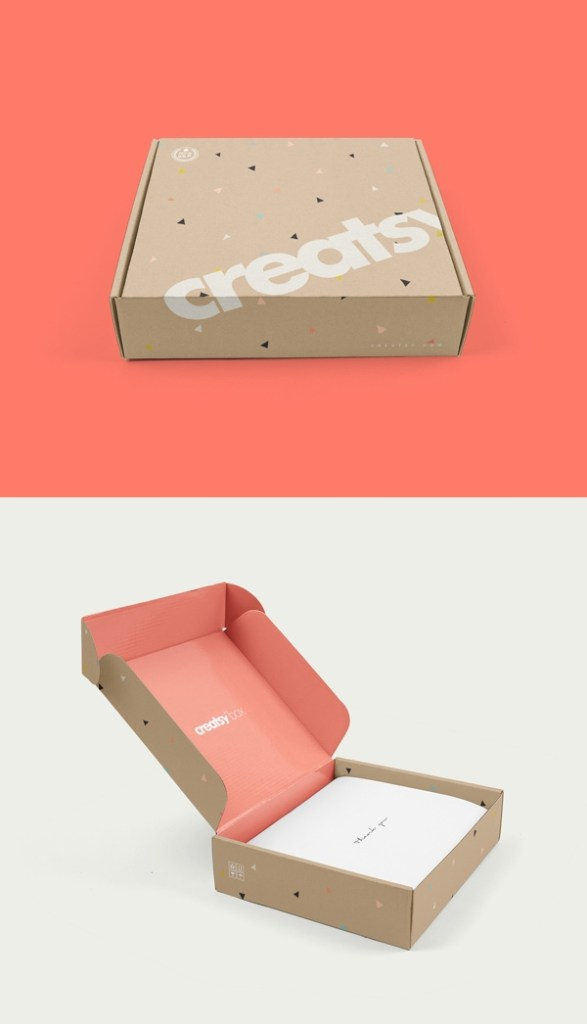 mailing box psd mockup graphicburger