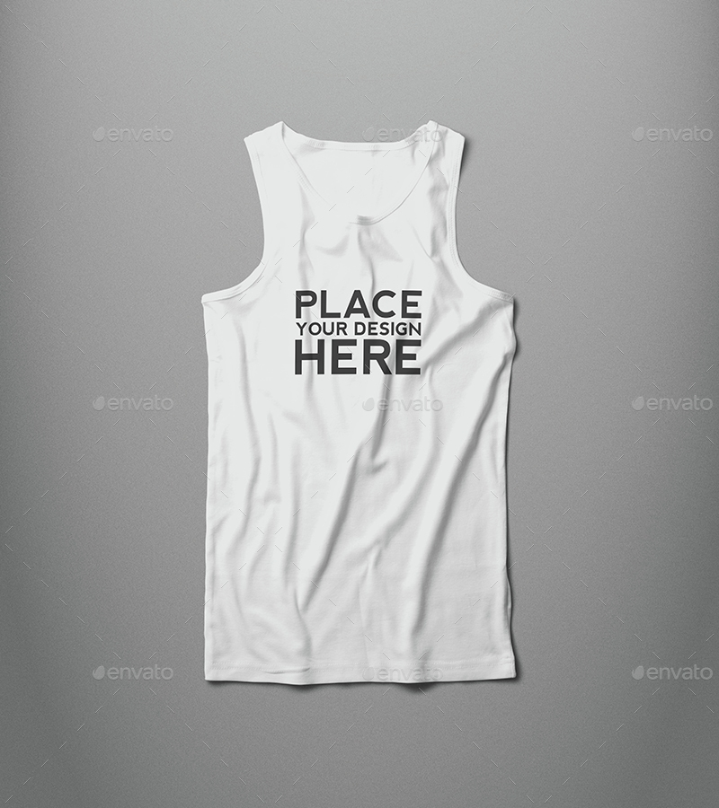 male tank top t shirt mock up