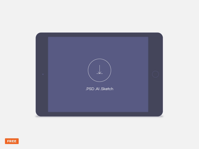 minimal dark landscape tablet mockup freebie download sketch