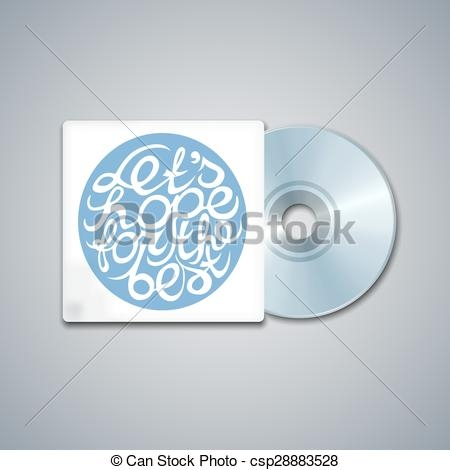 mixed cd cover mockup template with lettering element