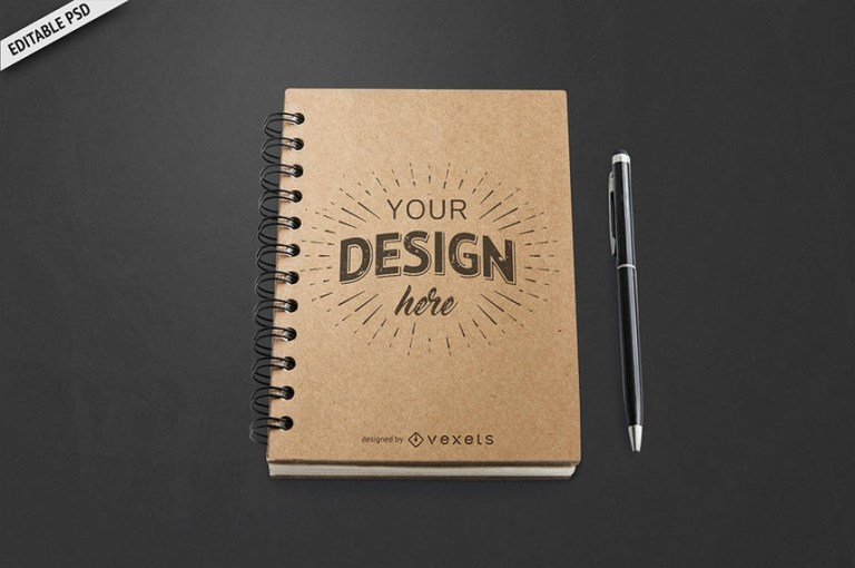 notebook mockup psd psd download