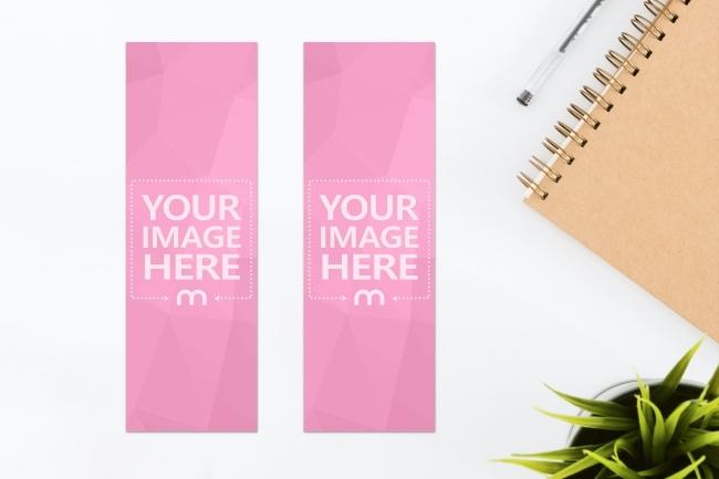 paper bookmark front and back mockup generator mediamodifier